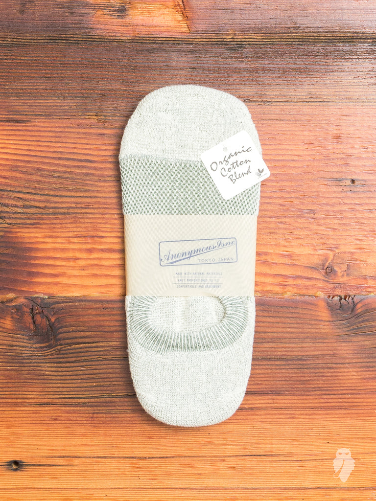 Organic Cotton No-Show Sock in Green
