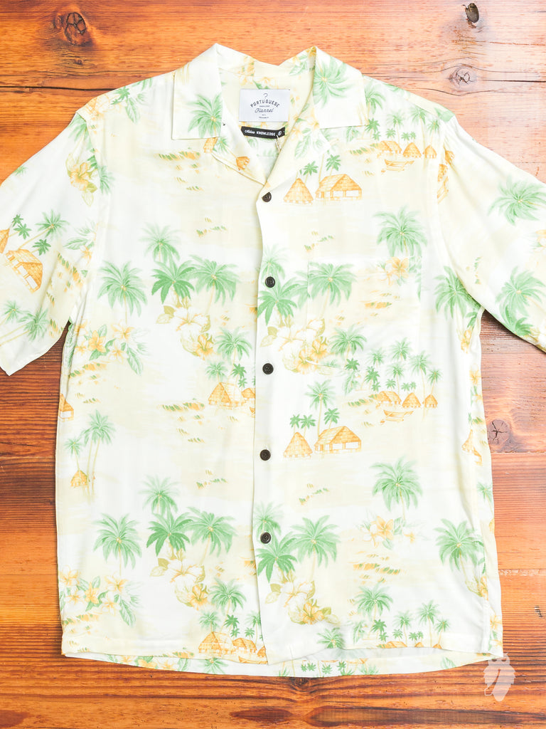 Polinésa Hawaiian Shirt in Sand