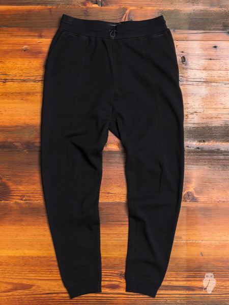 Bonded Interlock Pants in Black