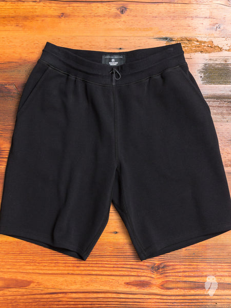 Bonded Interlock Shorts in Black