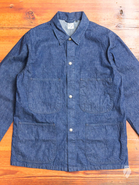 Utility Coverall Jacket in Rinsed Indigo