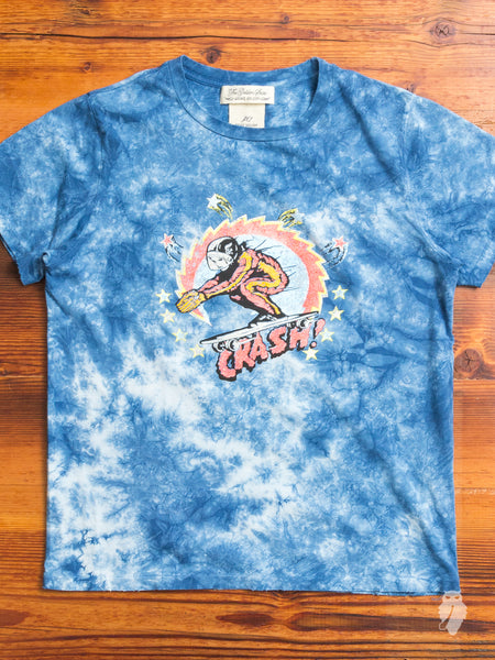 """Crash"" Tie-Dye T-Shirt in Washed Indigo"
