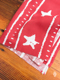 """Artisan Stars"" Tenugui in Red"