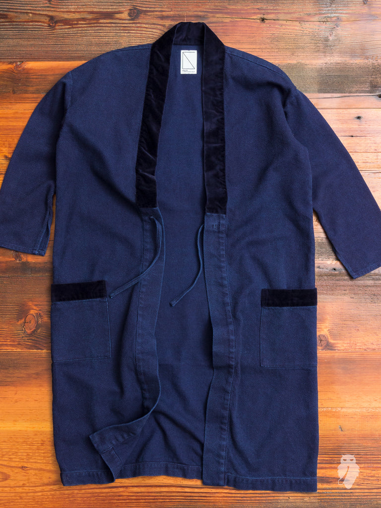Haori Sashiko Coat in Indigo