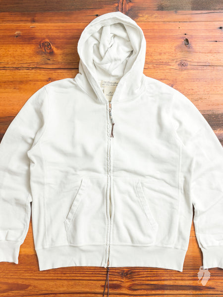 Zip Hoodie in Washed Off-White