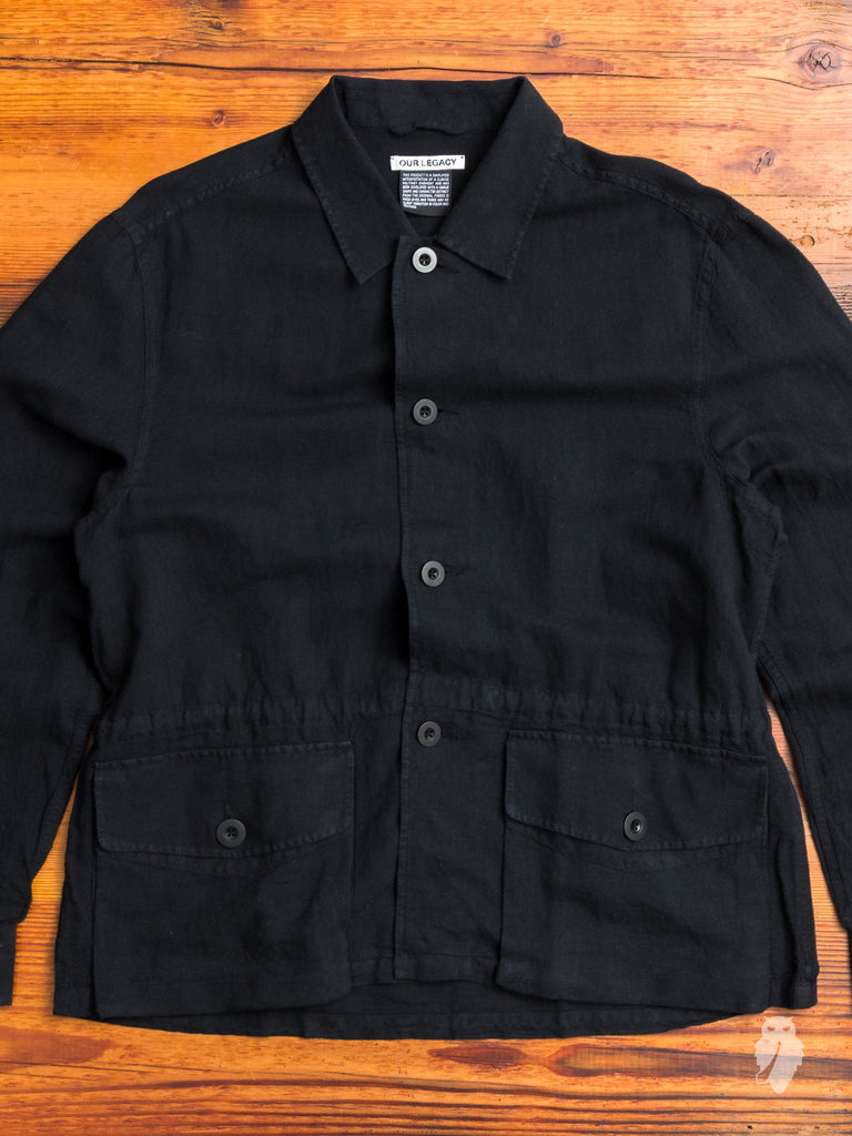 Puff Pocket Shirt in Black