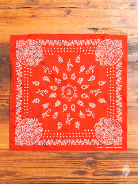 Paisley Bandana in Red