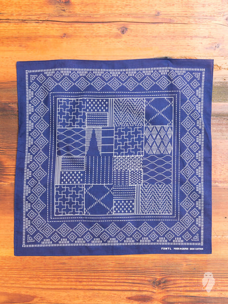 Patchwork Bandana in Navy