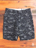 Camouflage Jacquard Shorts in Charcoal