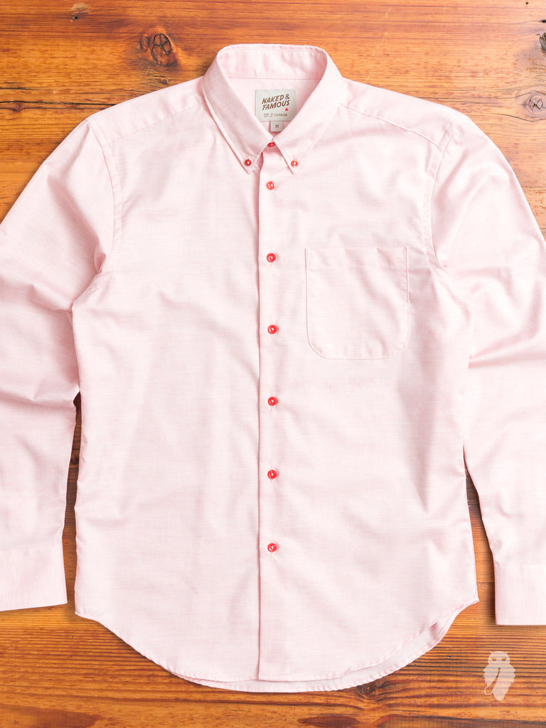 """Flower Dyed"" Button Down Shirt in Rose"
