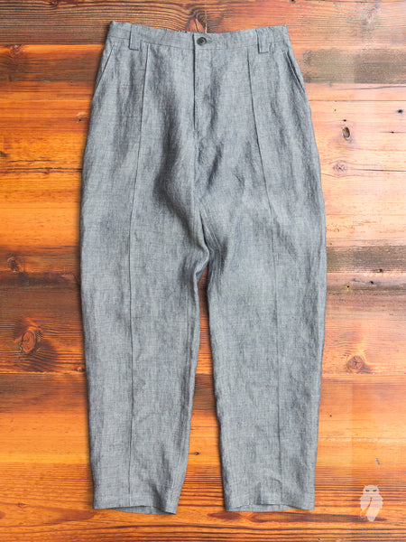 Linen Chambray Relaxed Trousers