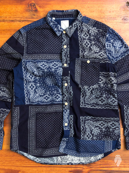 Bandana Ranru Button Down Shirt in Indigo