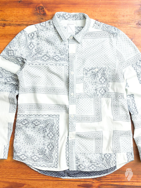Bandana Ranru Button Down Shirt in White