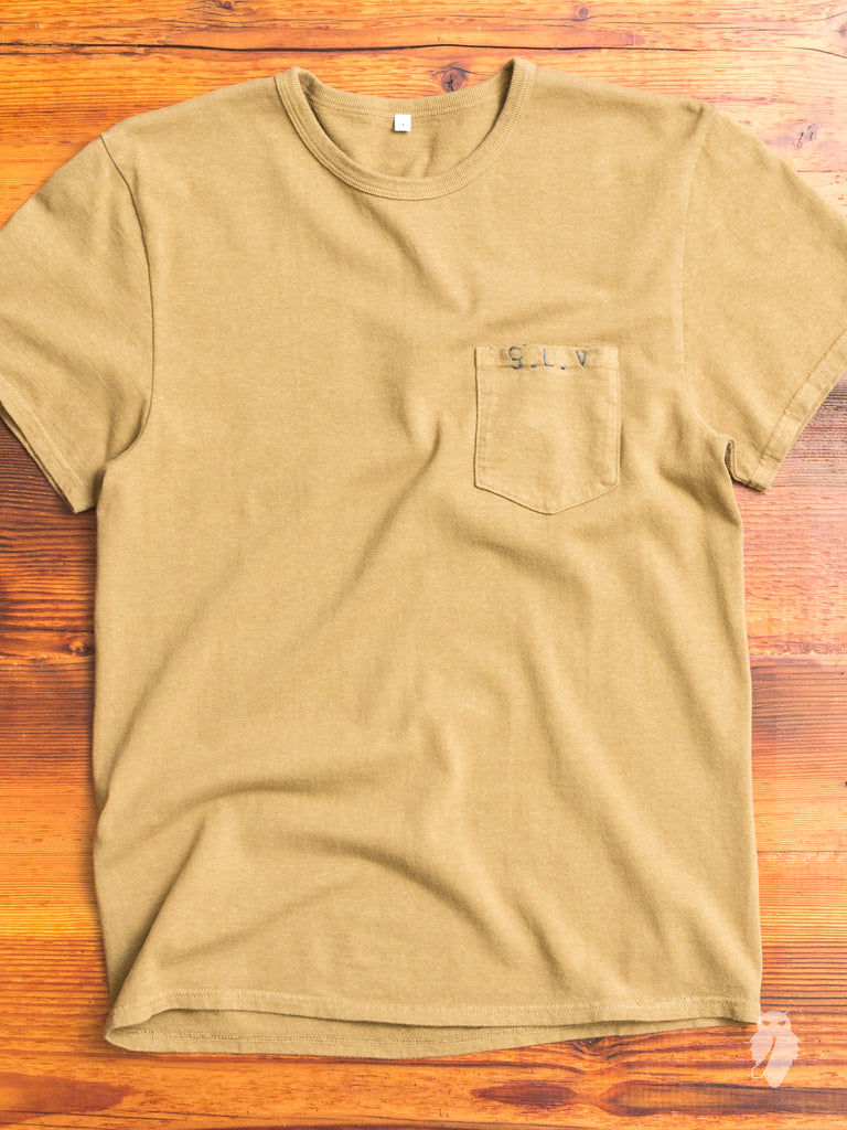 S.L.V. Hand-Stitch T-Shirt in Beige