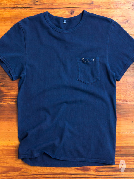 S.L.V. Hand-Stitch T-Shirt in Indigo