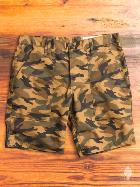 """Safari Short"" in Camo Ripstop"