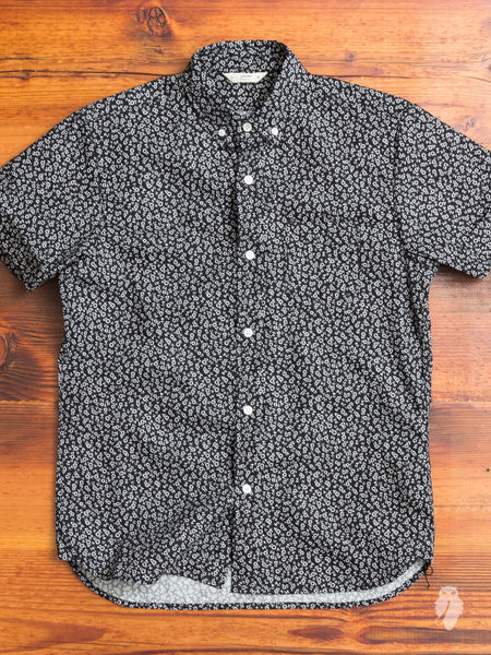 Floral Button-Down Shirt in Black