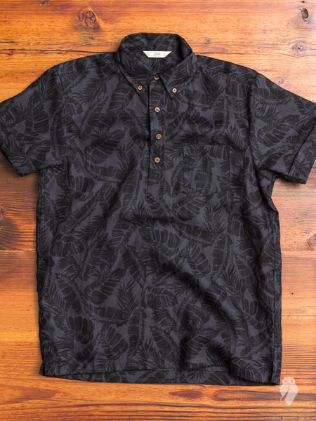 Palm Popover Shirt in Black