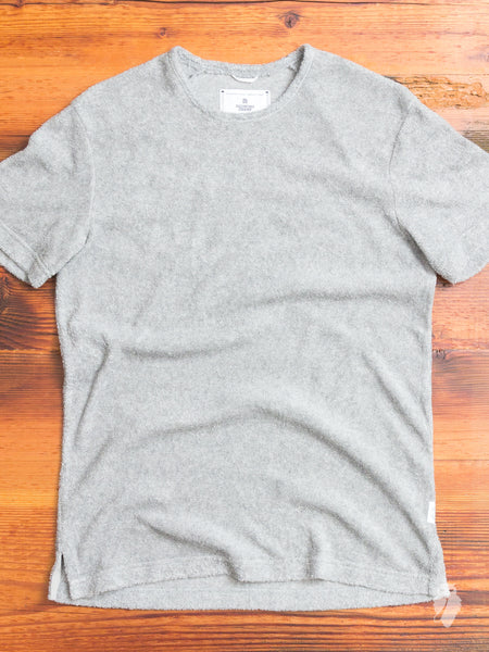 Towel Terry T-Shirt in Heather Grey