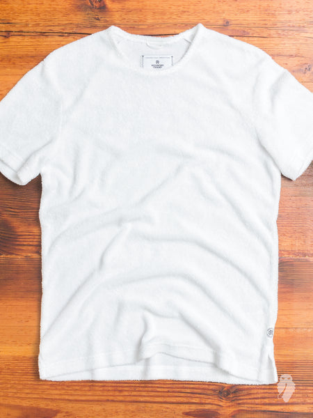 Towel Terry T-Shirt in White