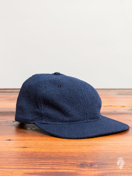 Towel Terry 6-Panel Hat in Navy