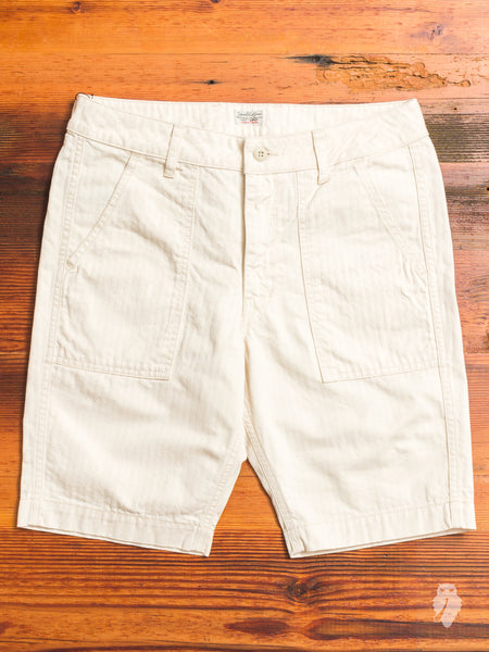 JB5700 Baker Shorts in Natural Herringbone
