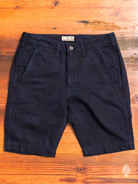 JB5500 Patchwork Shorts in Indigo