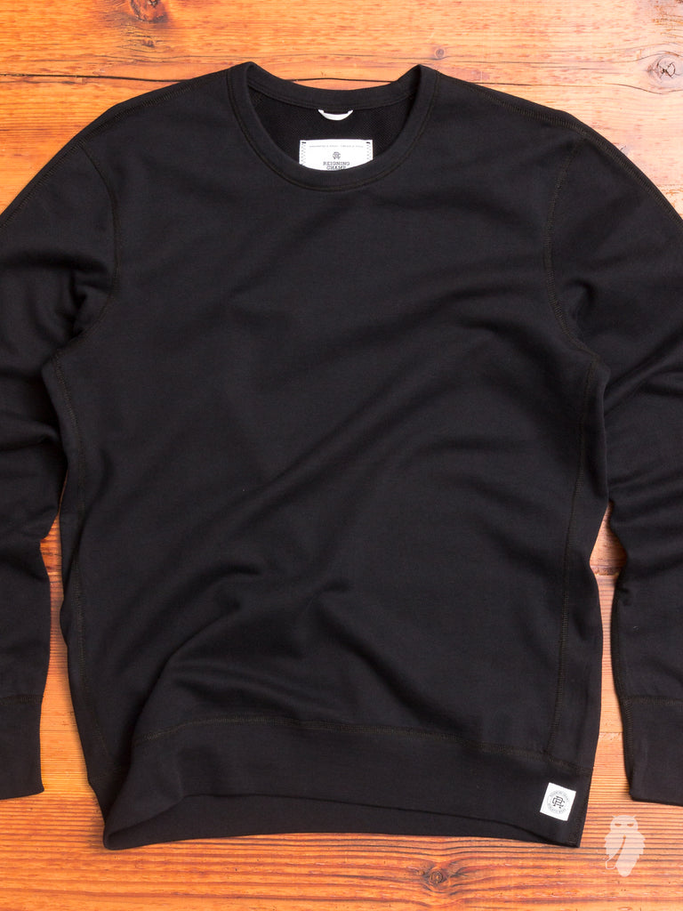 Lightweight Crewneck Sweater in Black