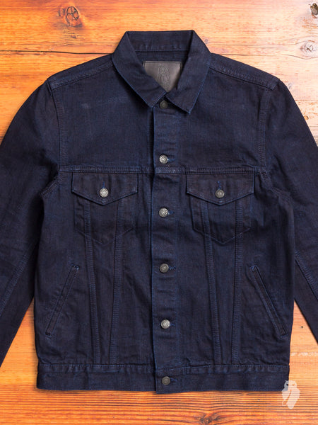 6087 13oz Type-3 Denim Jacket in Double Indigo