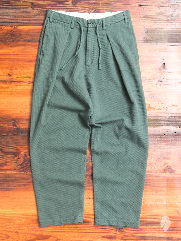 Sashiko Hakama Pants in Green