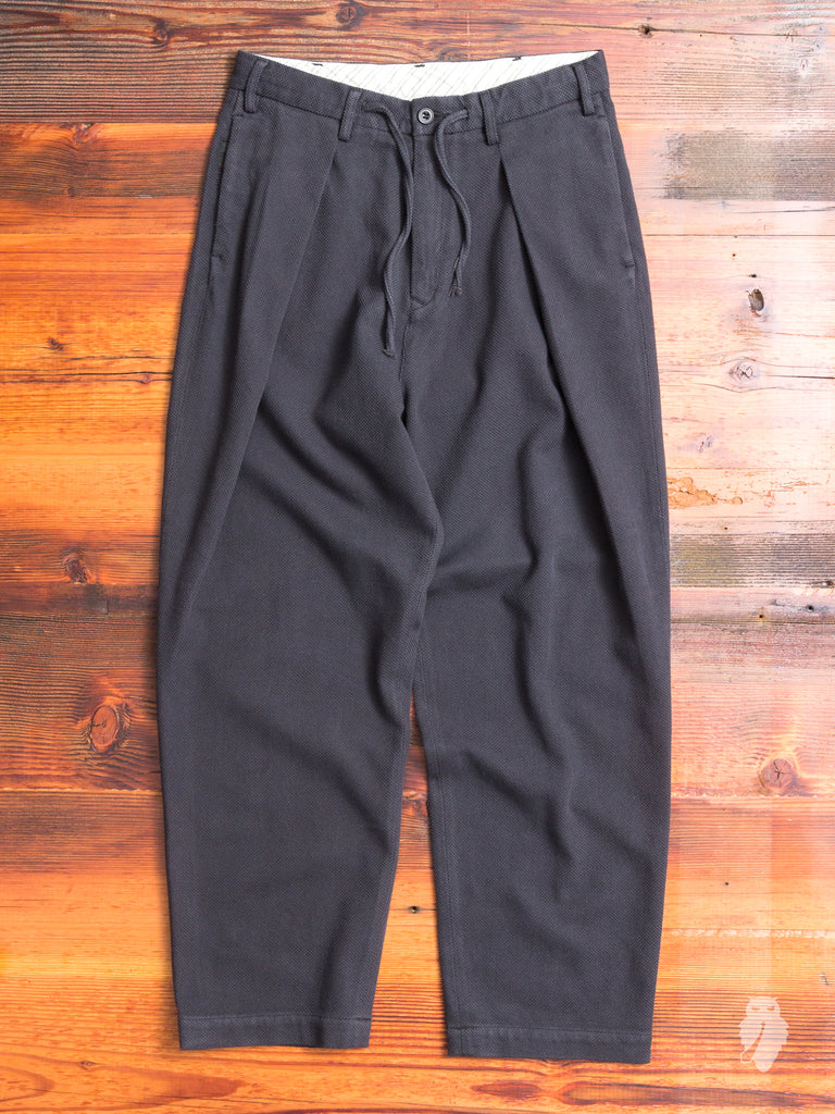 Sashiko Hakama Pants in Matte Black
