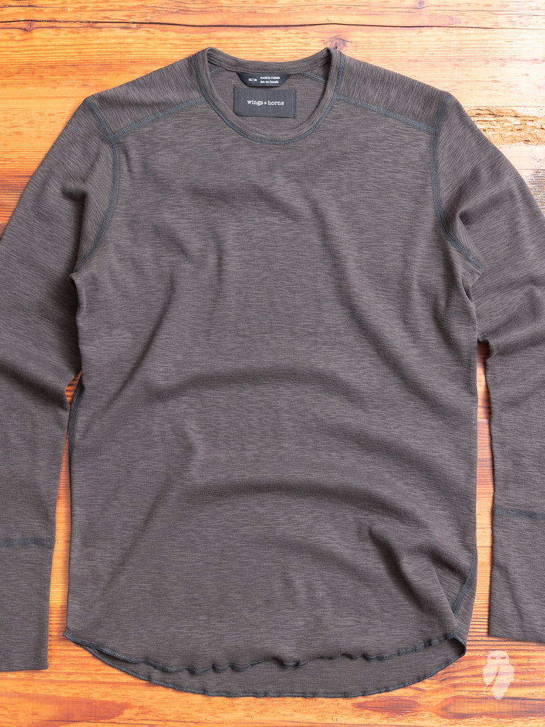 1x1 Long Sleeve T-Shirt in Stone