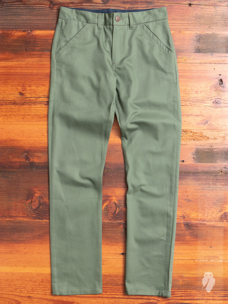 Deadstock Workers Chino in Military Green
