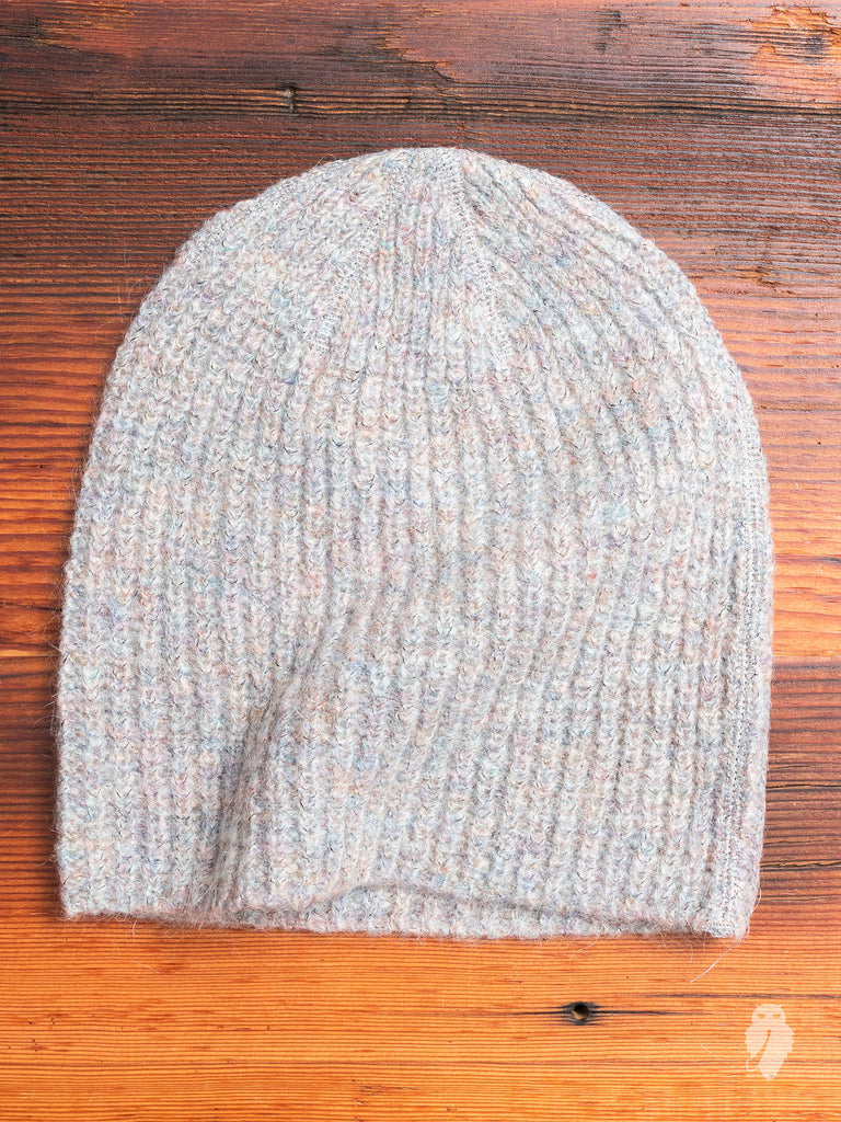 Knitted Hat in Rainbow Tweed