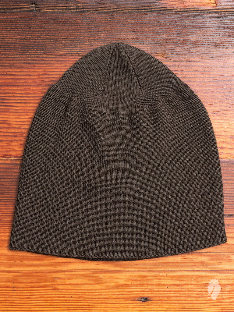 Knitted Hat in Army Wool Mudd