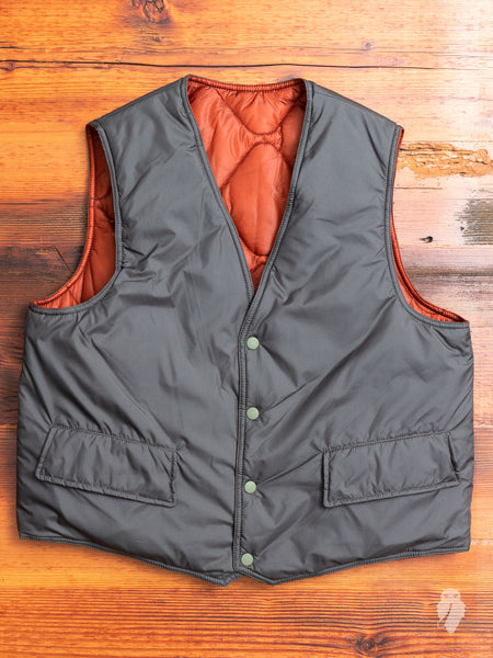 Reversible Puron Vest in Olive Soft Nylon