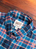 """Rustic Nep Flannel"" Button Down Shirt in Navy/Blue"