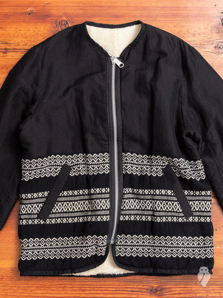 """Andes"" Reversible Jacket in Black"