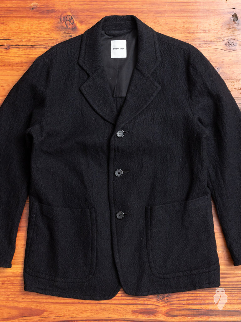 Marled Blazer in Black