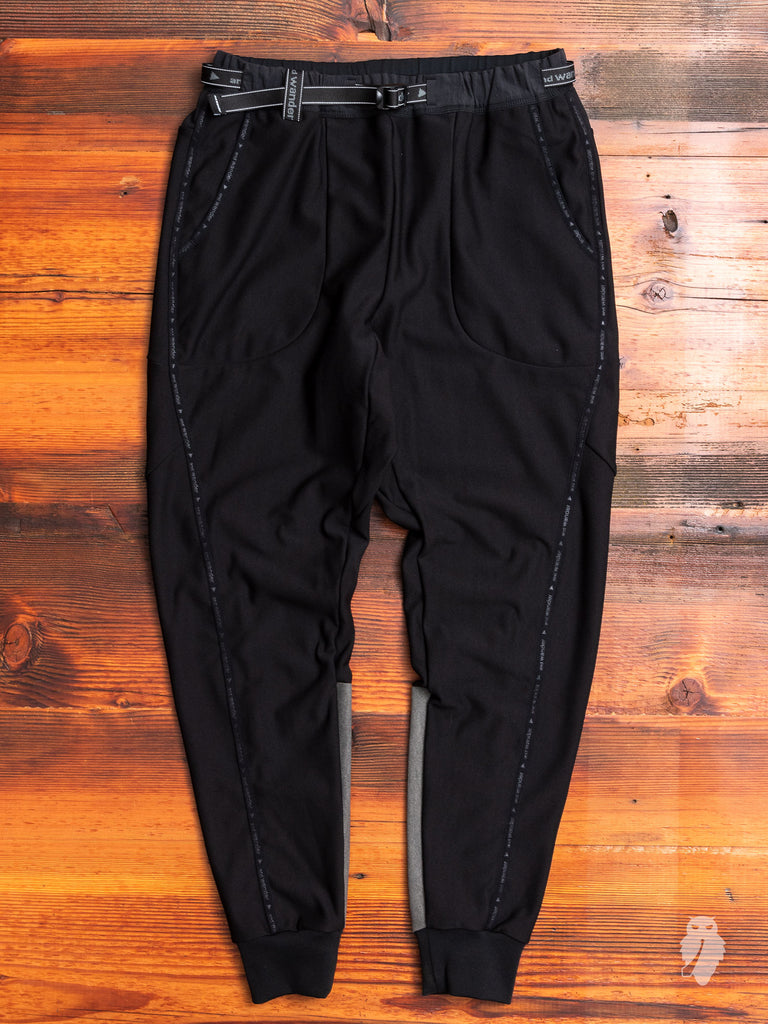 Reflective Fleece Pants in Black