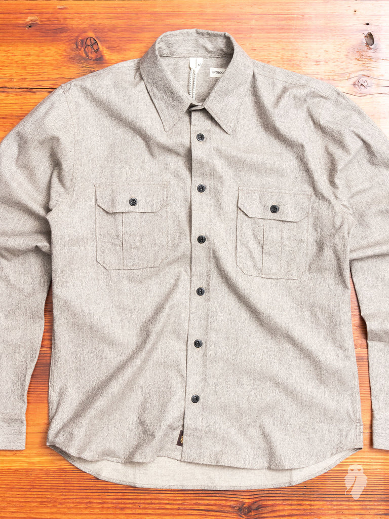 Walton Work Shirt in Grey Mocktwist