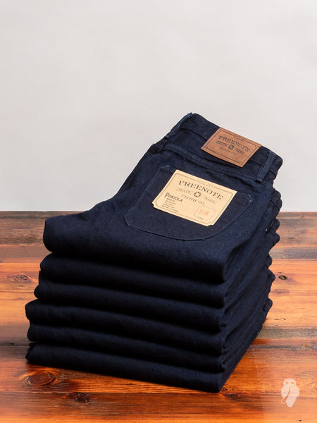 """Portola"" 13.25oz Rinsed Loomstate Selvedge Denim - Tapered Fit"