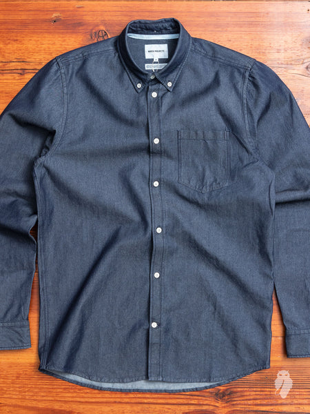 5e20e2e66c Anton Denim Button Down Shirt in Rinsed Indigo