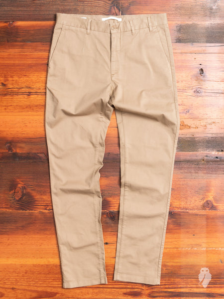 Aros Slim Light Stretch Chino in Utility Khaki