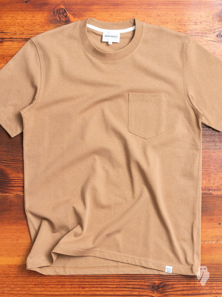 Johannes Pocket T-Shirt in Camel