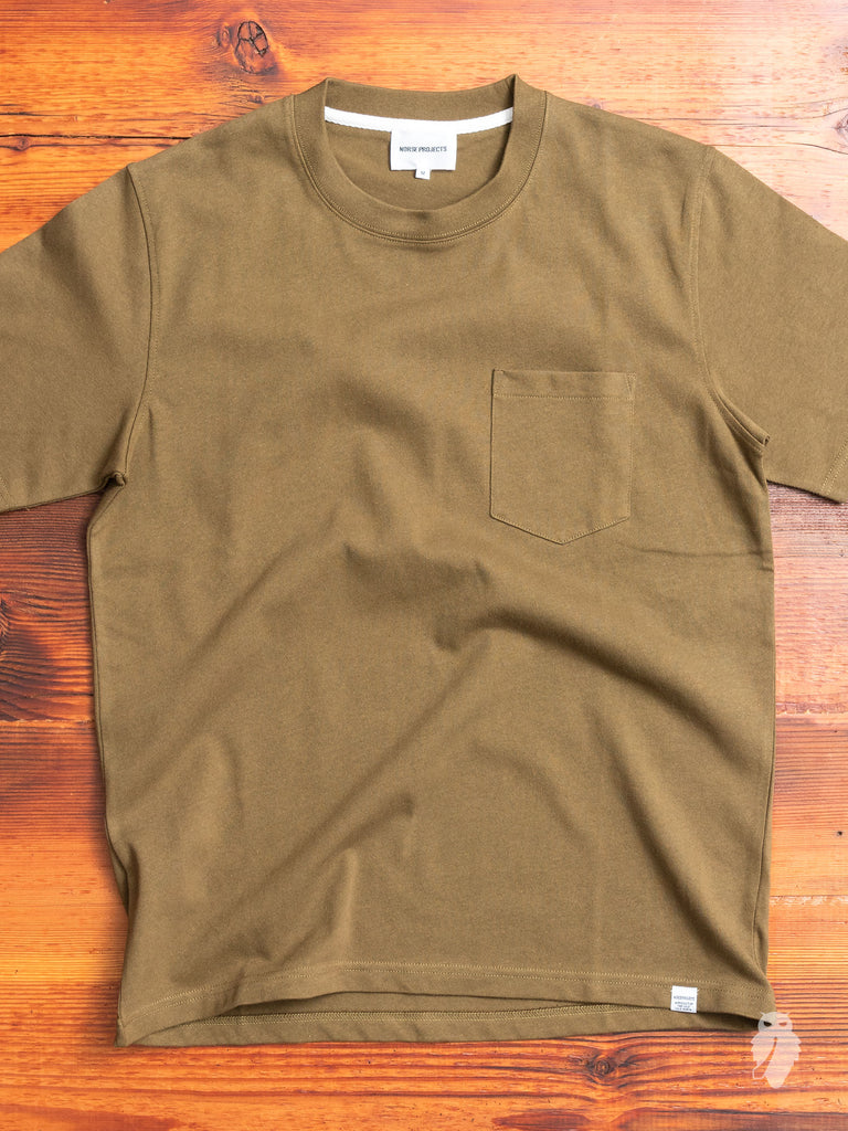 Johannes Pocket T-Shirt in Sitka Green