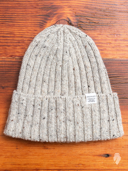 Neps Beanie in Light Grey Melange