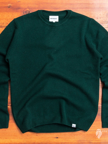 Sigfred Lambswool Sweater in Quartz Green
