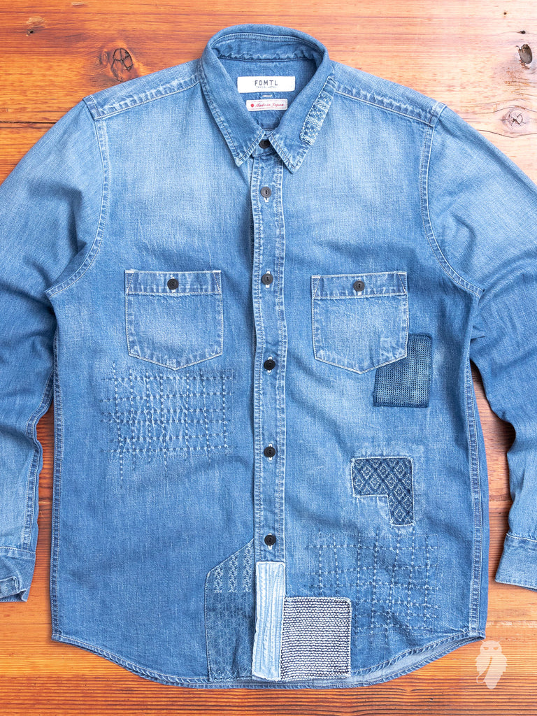 Denim Repair Shirt in 5-Year Wash