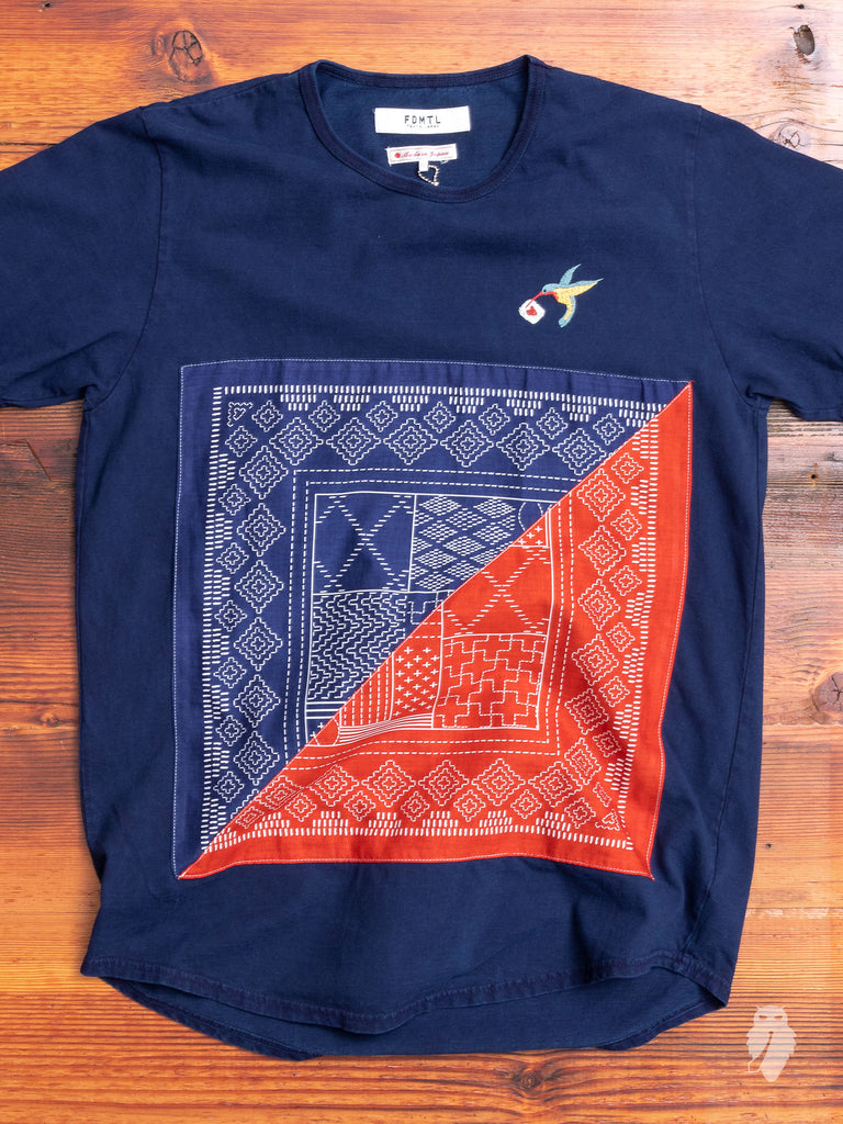 Bandana T-Shirt in Indigo